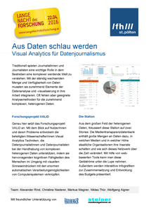 Poster about VALiD (PDF in German)